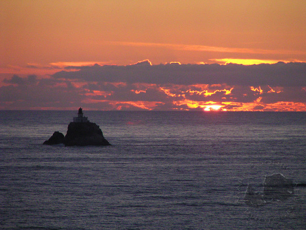 Terrible Tilly at Sunset. Ecola State Park, Oregon. Also the lighthouse from the Goonies.