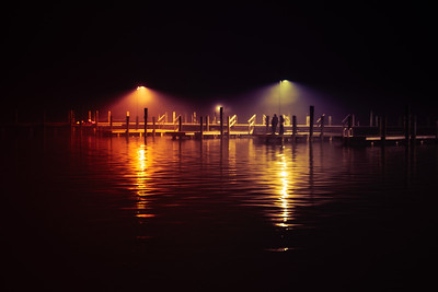 Foggy Night at the Dock