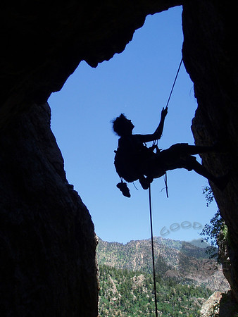 Rappelling the Mule Hollow Wall, Big Cottonwood Canyon
