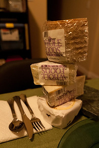 No dinner party is complete without a tower of cheese.