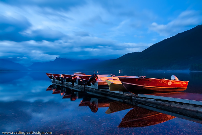 Mixed Light; Apgar Village & Lake McDonald @ Glacier National Park