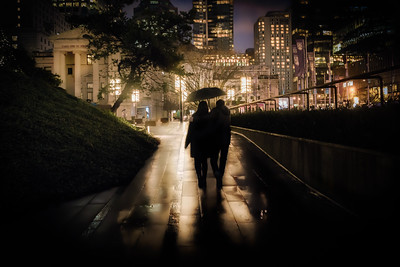 Walking into Robson Square