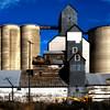 Grain elevators in Rosalia, Washington.  The Palouse area