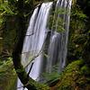 Ecola Falls, Columbia River Gorge, Oregon<br /> 8mm (16mm equiv) f/2.8 1/13 sec