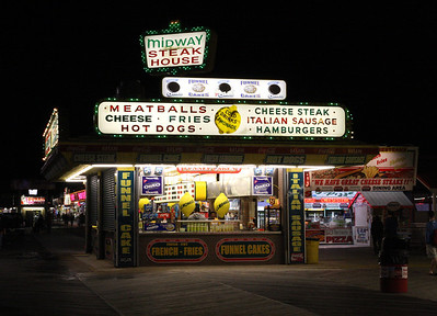 Midway Steaks on the Seaside Height's Boradwalk