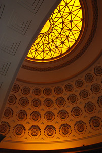 Inside the rotunda, State Capital building in Jefferson City, Missouri