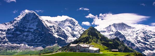 Mannlichen. This is high up in Swiss Alps.