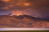 Sunset in the Himalayan lake, Tso Moriri at 15000 feet !