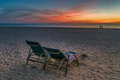 Empty Beach After Sunset