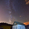 Old and Older - Milky Way over Walker Ranch Cabin