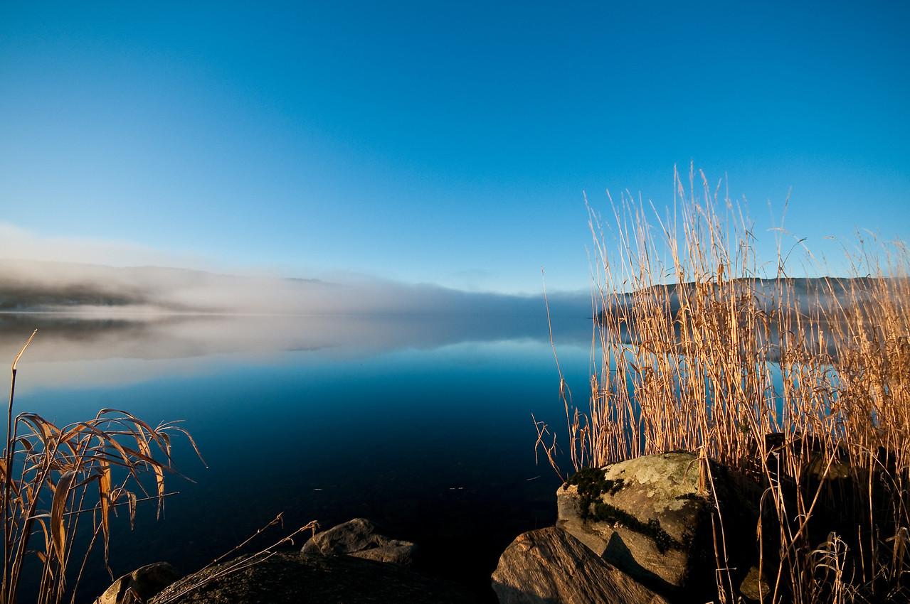 Morgen tåke - Kalandsvannet