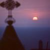 Sunset over Mediterranean Sea from Stella Maris Carmelite Monastery, Haifa, Israel