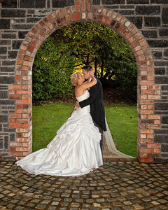 Lynsey and David, Mr & Mrs Perkins at the Galgorm Manor