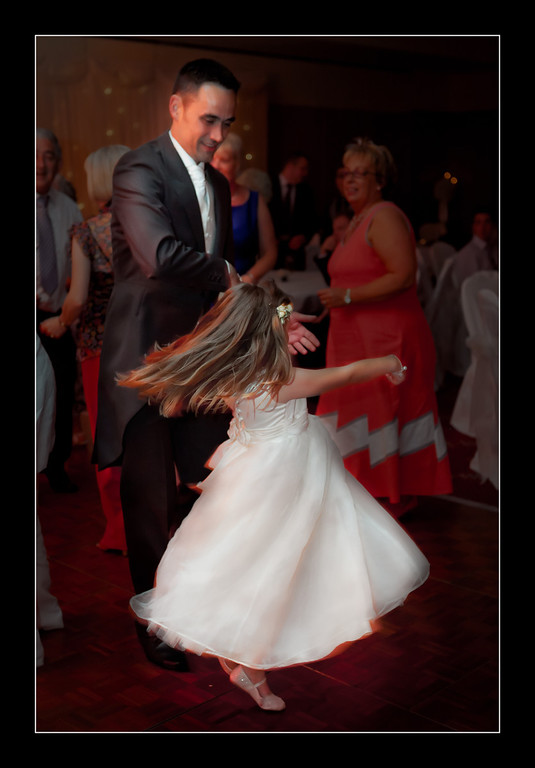 On the dance floor with my dad