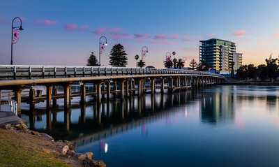 Old Mandurah Traffic Bridge, pre-dawn