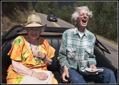 "© Paul Conrad/ Pablo Conrad Photography  ""This is so much fun,"" yells Amarose Gamache, 81, right as he and Winifred ""Winnie"" Elliott, 87, react to the wind in their hair as they ride in a 1934 Ford Model T. ""In 1939 I went to an auction at Sm Reeds farm with only $5.30 in my pocket,"" remembers Gamache, ""I paid $5 for a 1919 Model T and 30 cents for a horse drawn sleigh. We had an old mare from WW1 with ""USC"" stamped on her ass. She was from the Army's cavalry."""