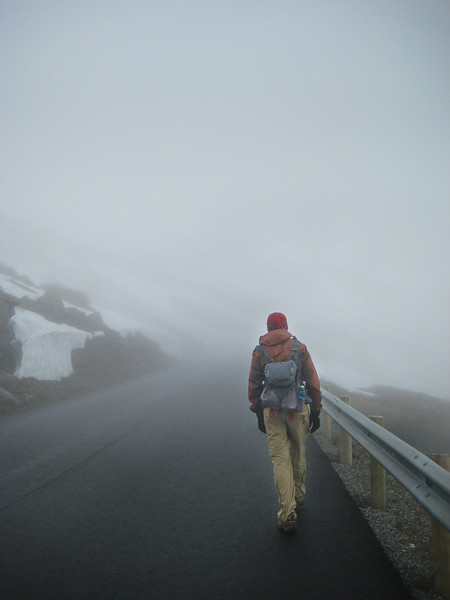 fogged out on the way up to the Dalsnebba viewpoint