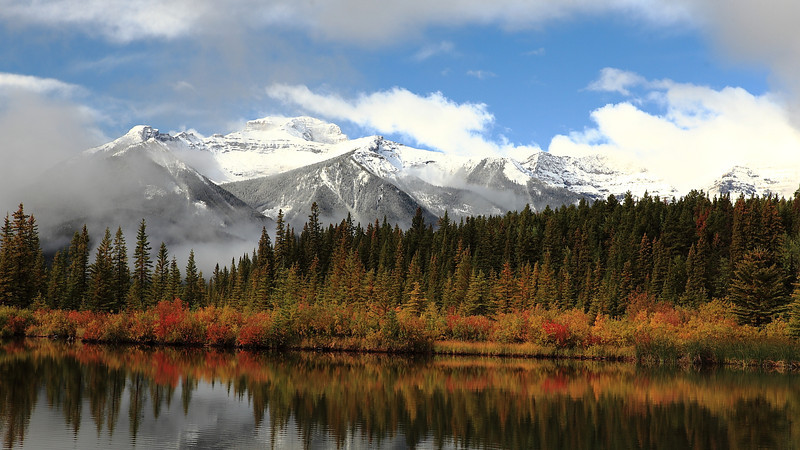 Picture perfect view from vermillion lake