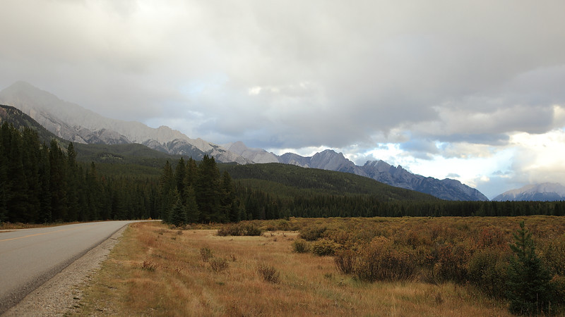 A stop on the bow valley parkway