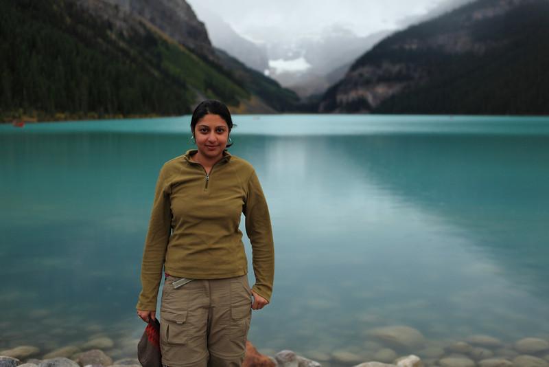 Dipthi at Lake Louise