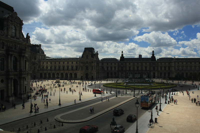 Peering outside one of the galleries from inside Louvre. Making sure we are infact in the present world and not lost in times. Louvre has that effect on people.