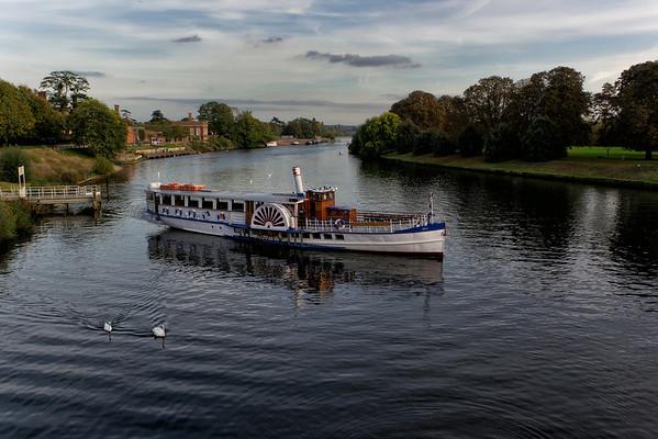 Thames River, Hampton Court, London. September, 2011
