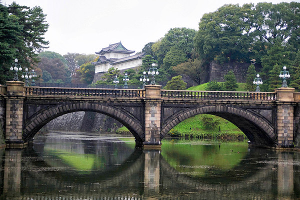 Nijubashi Bridge at the Imperial Palace. Tokyo, Japan. November, 2012