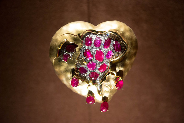 Dripping Heart.  Salvador Dali's Jewelry Collection. Figueres, Spain. September, 2012