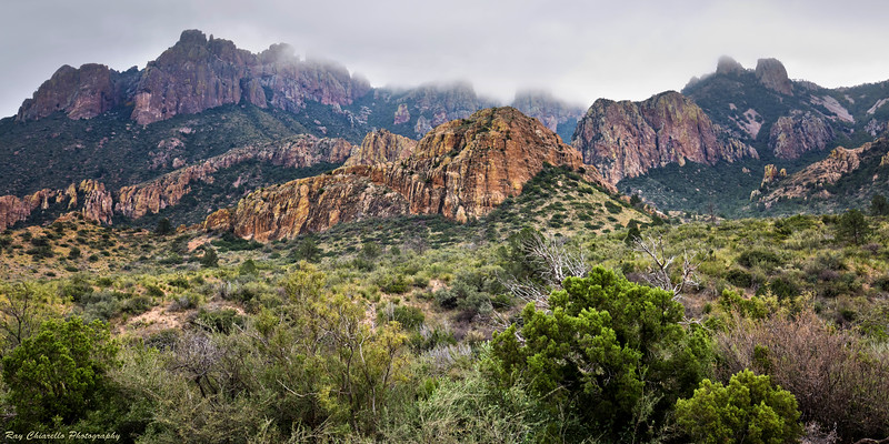 Clouds Descend on the Chisos Mountains