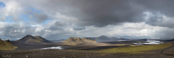 View looking northwest from the Crater of Ljótipollur