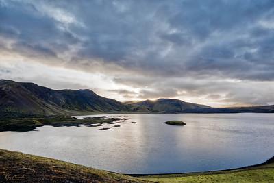 Sunset at Frostastaðavatn Lake