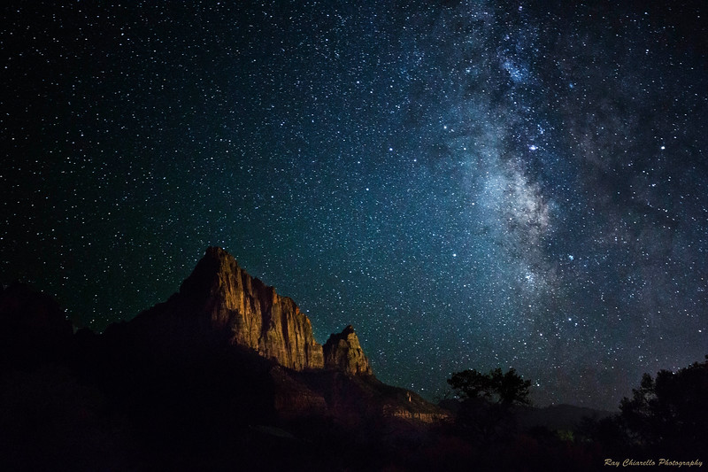 The Milky Way Galaxy Over The Watchman
