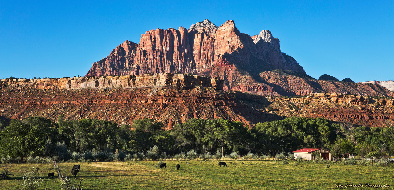 Mount Kinesava of Zion National Park