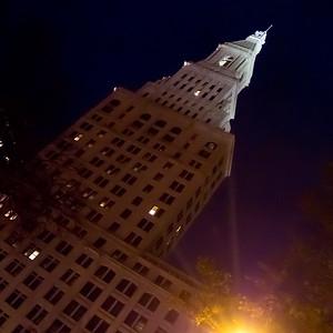 Travelers Tower at Night, Hartford, CT