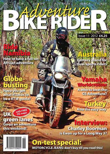 Adventure Bike Rider magazine - Cover Shot and feature story for Issue 11