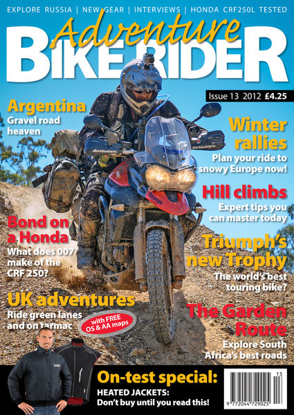 Adventure Bike Rider magazine - Cover Shot for Issue 13