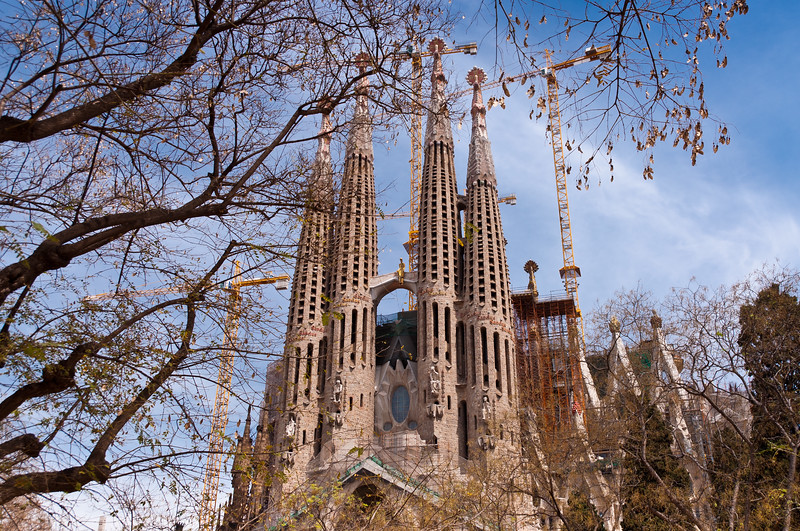Sagrada Familia. Antoni Gaudi's unfinished masterpiece
