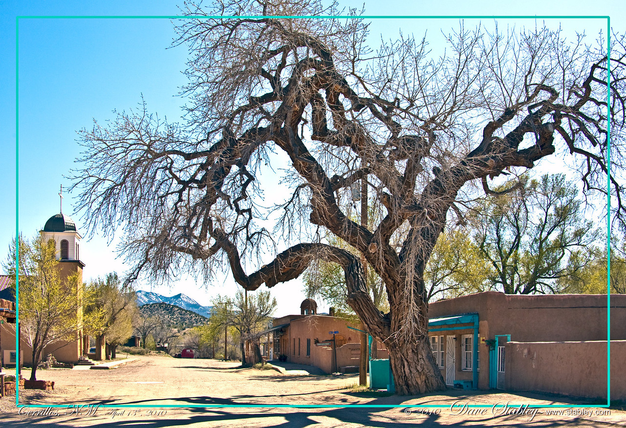 Cerrillos, NM.  On the Turquoise Trail, just a short way past Madrid.  This sleepy looking throwback to the days of the wild west will astound you.