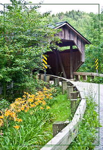 Covered Bridge in Vermont. This beautiful, 200 year old structure in norther Vermont is not only a wonderful reminder of our history, but it is still fully functional on a daily basis.