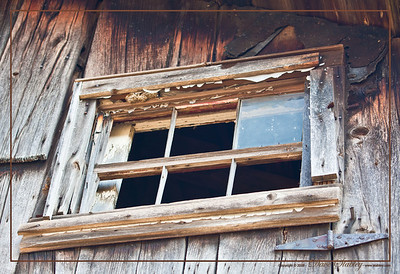 Barn Window - This old, weathered window does little to keep out the Western New York weather these days.
