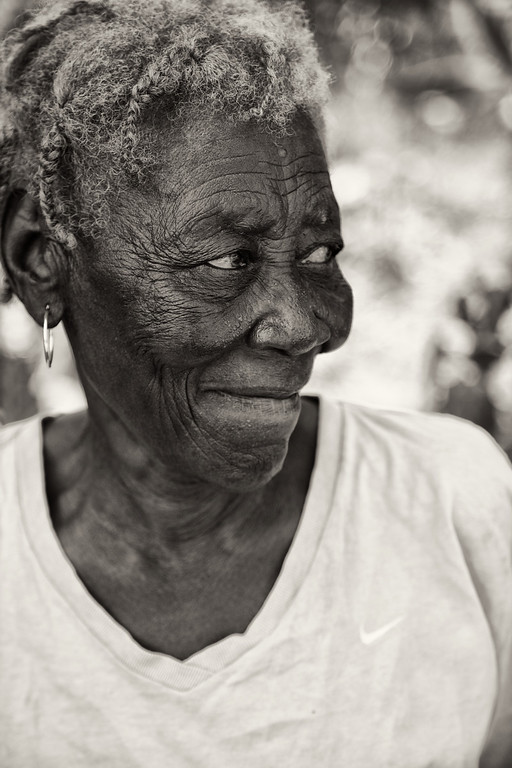 I wonder what she has seen in her life. She is blessed to have lived to be this age. There are not many elderly people here.