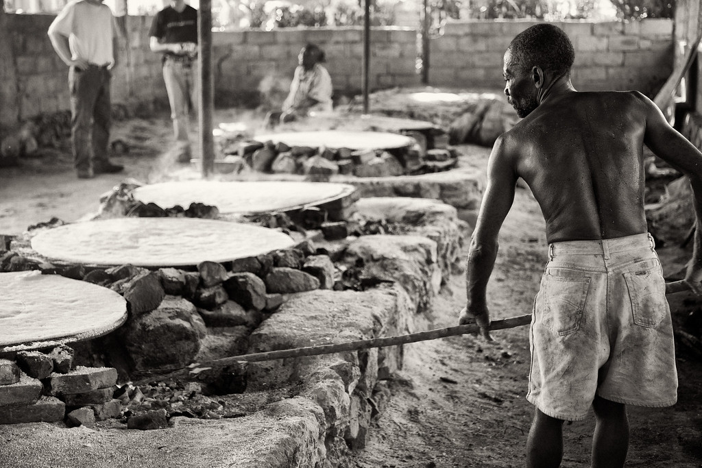 Tending to the bread making