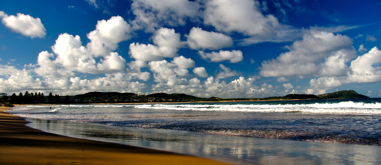 Clouds over Terrigal Beach, Central Coast, New South Wales, Australia.