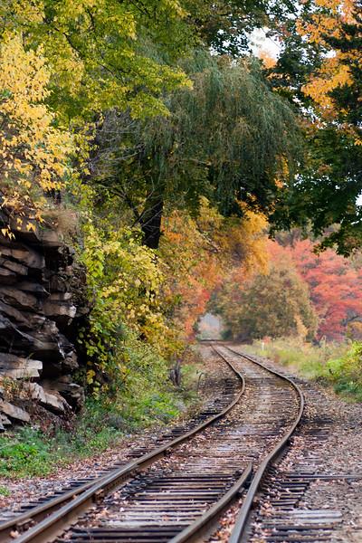 Valley Railroad train tracks, Essex, CT