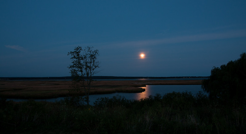 Moonrise over CT River & Ragged Rock Creek<br /> Taken from the park at the old town dump.<br /> Looking toward Old Lyme, CT