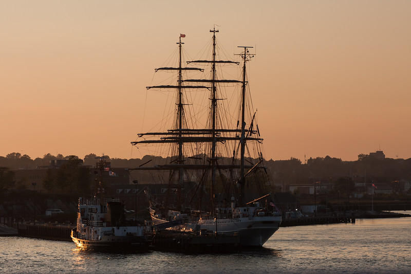 """IMG_5772<br /> Coast Guard barque """"Eagle"""" berthed in Waterford, CT"""