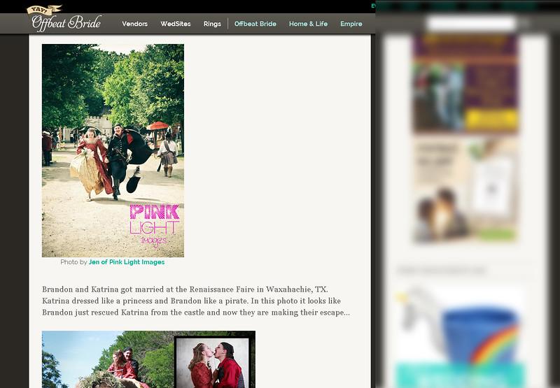 Offbeat Bride feature - Brandon & Katrina - Pirates and Princesses