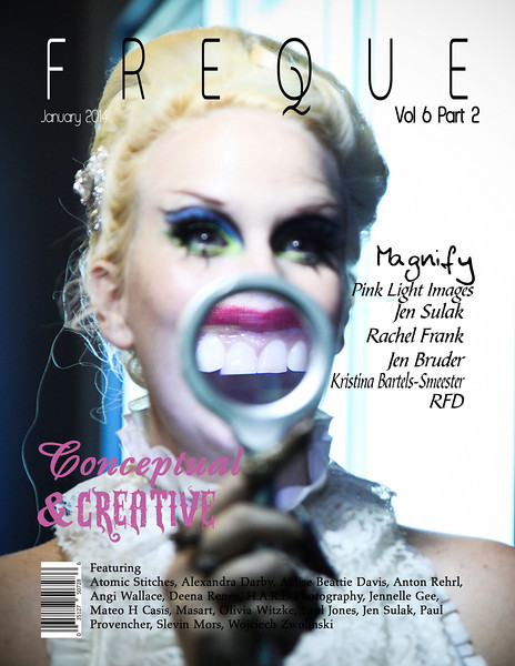 "MADE THE COVER OF FREQUE MAGAZINE<br /> Volume 6, Part 2.<br /> <br /> Freque Magazine Tear Sheets!<br /> Published Jan 15th, 2014<br />  <a href=""http://www.frequemagazine.com"">http://www.frequemagazine.com</a><br /> All credits on images!<br /> <br /> ~Pink Light Images~"