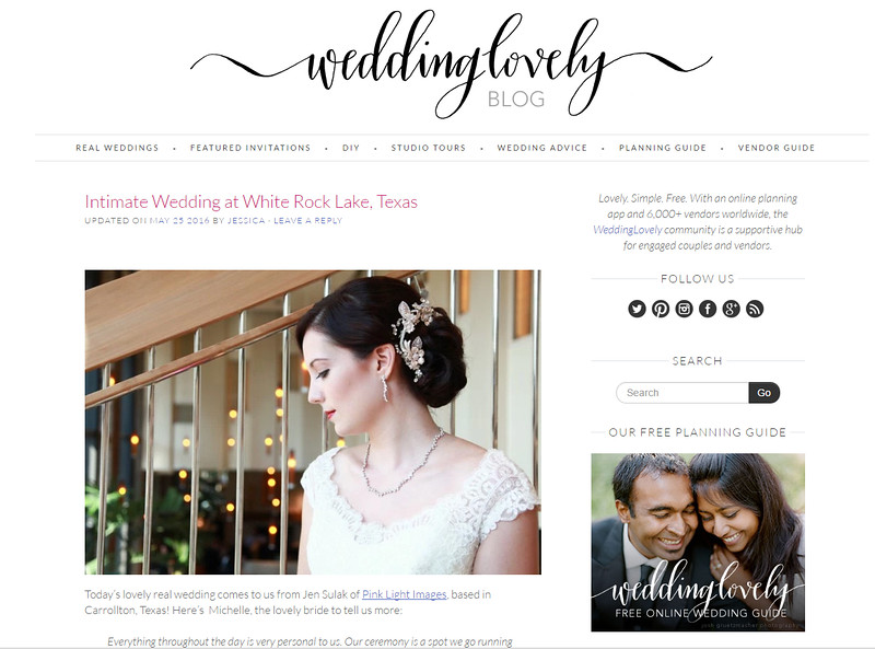 WeddingLovely Blog Feature 2016