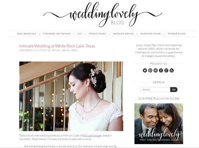WeddingLovely Blog Feature 2016